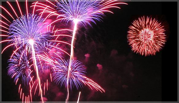 Shoreline Amphitheatre fireworks