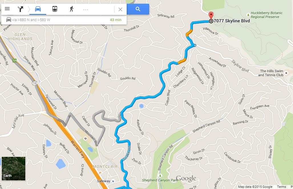 huckleberry path loop_map