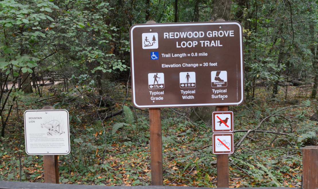 henry cowell redwoods state park_redwood grove loop trail-sign