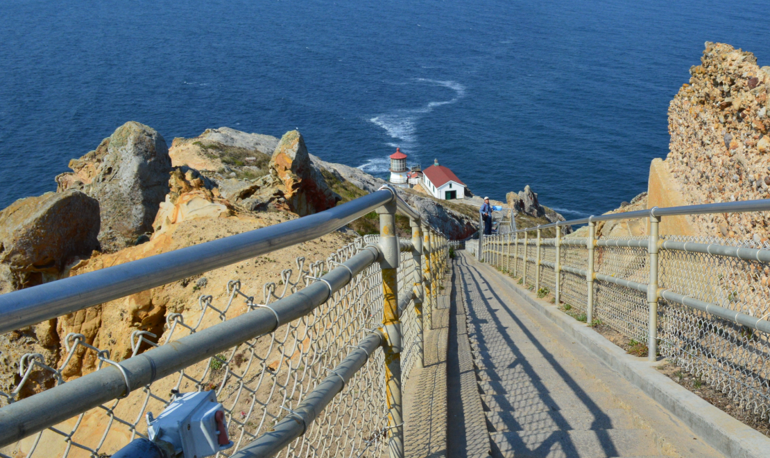 point reyes lighthouse from the top
