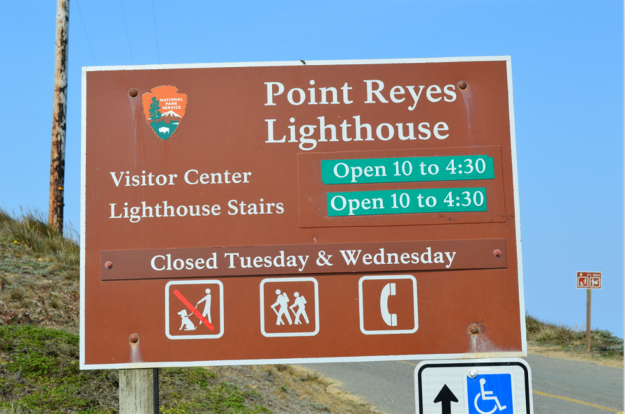 point reyes lighthouse_sign