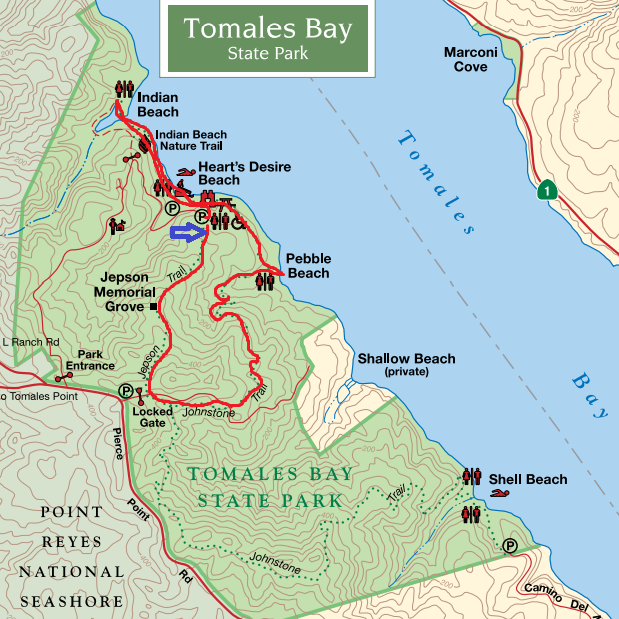 tomales bay state park hiking map