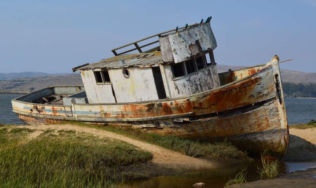 tomales bay state park_wrecked boat