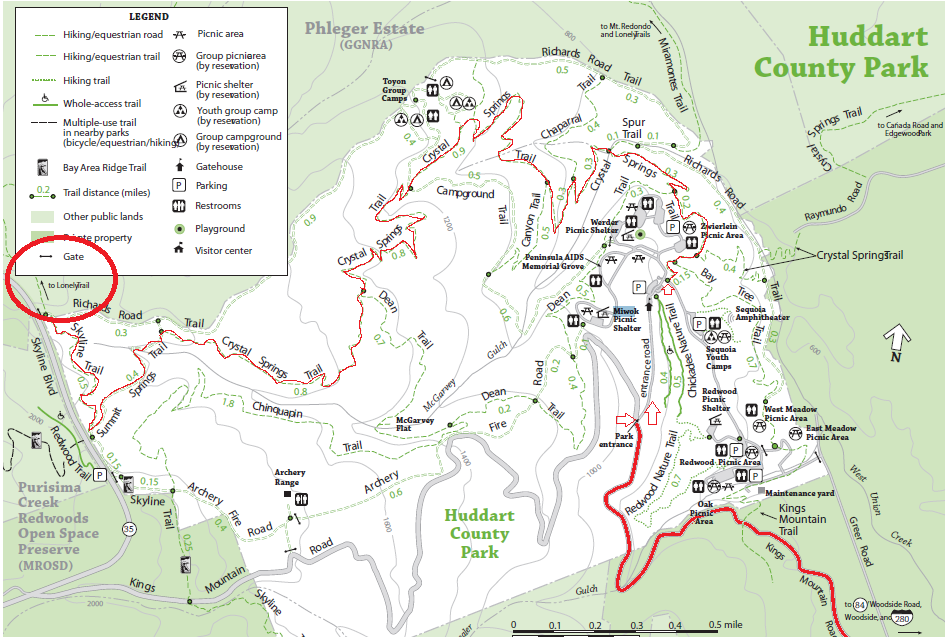 Huddart Park Map