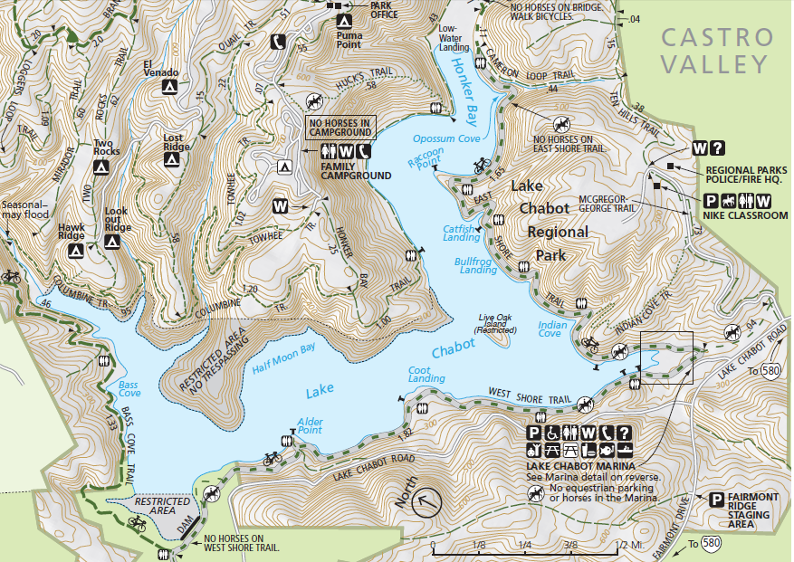 Lake Chabot hiking map