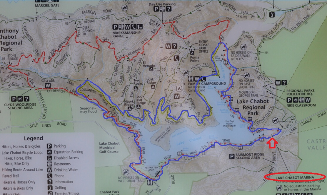 lake chabot regional park_map
