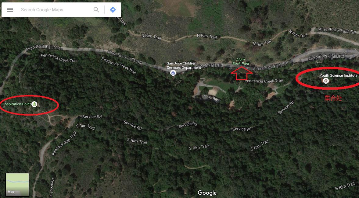 Alum Rock Park_google map