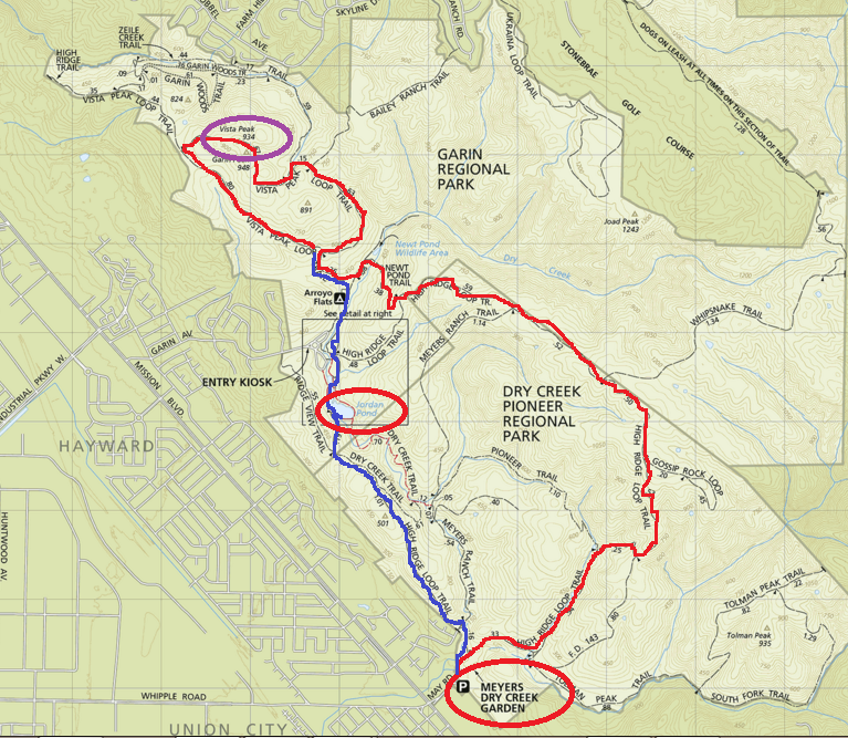 garin dry creek trail map