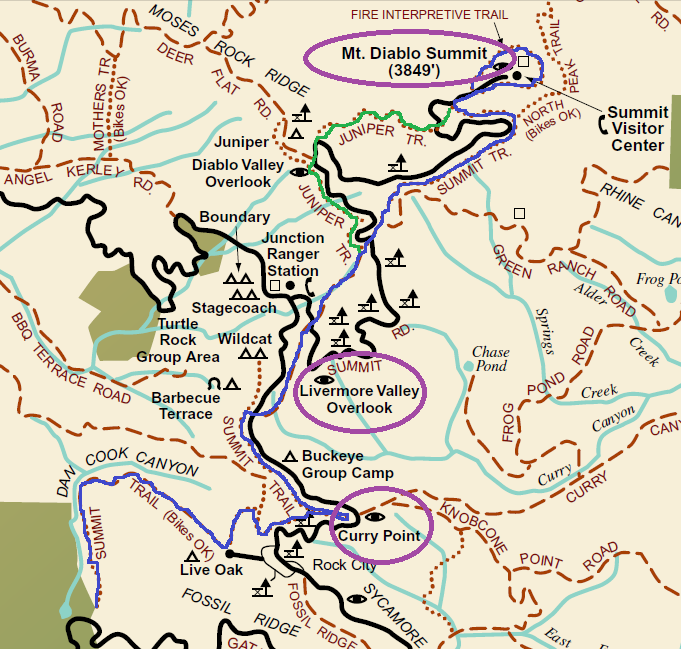 mt diablo_hiking map