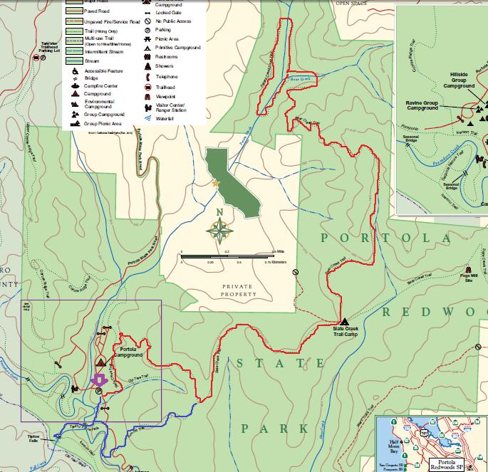 portola redwoods state park_hiking map